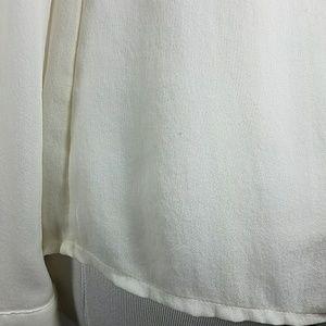 White House Black Market Tops - White House Black Market cream silk blouse